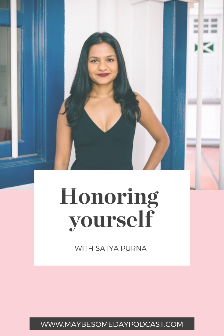 Honoring yourself