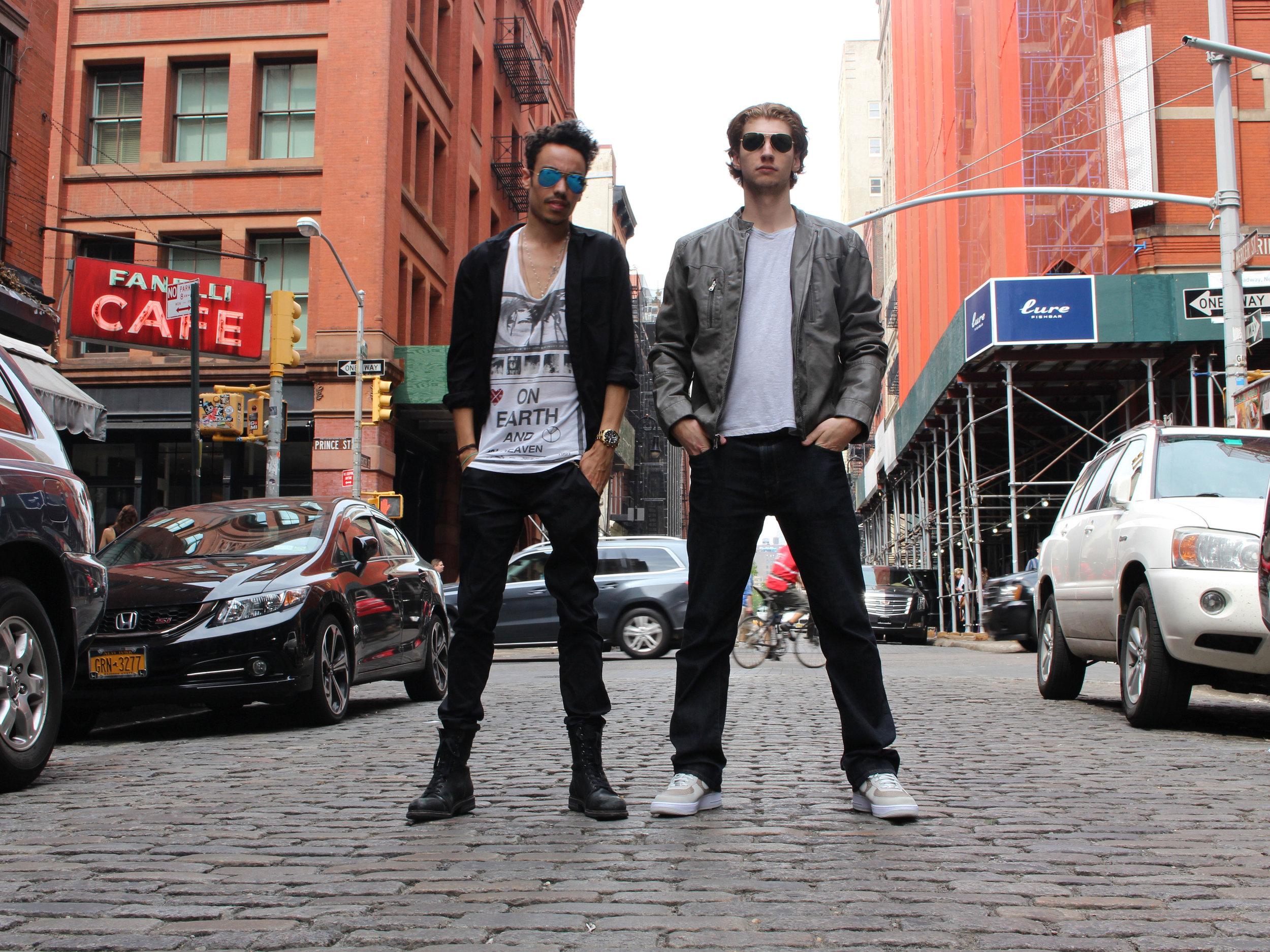 TAYLOR NUNU & DENSZA OF UP&UP IN SOHO, NEW YORK CITY