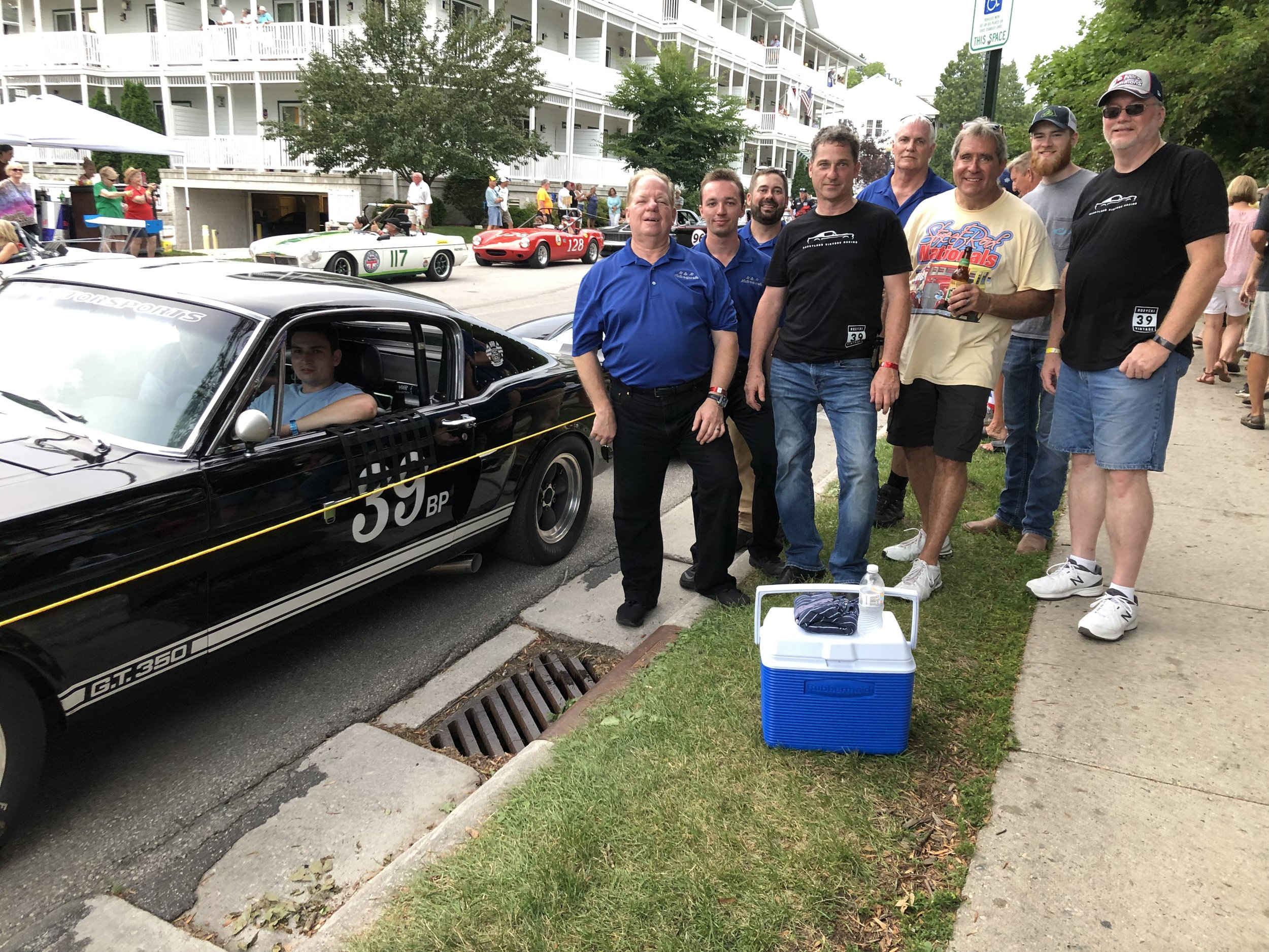 Race crew, Ray Bonthron, Will Bonthron, Brian Lein, myslef, DD, Bruce Wibracht, Jack Ilemann and Wayne Butler enjoyed the downtown festivities