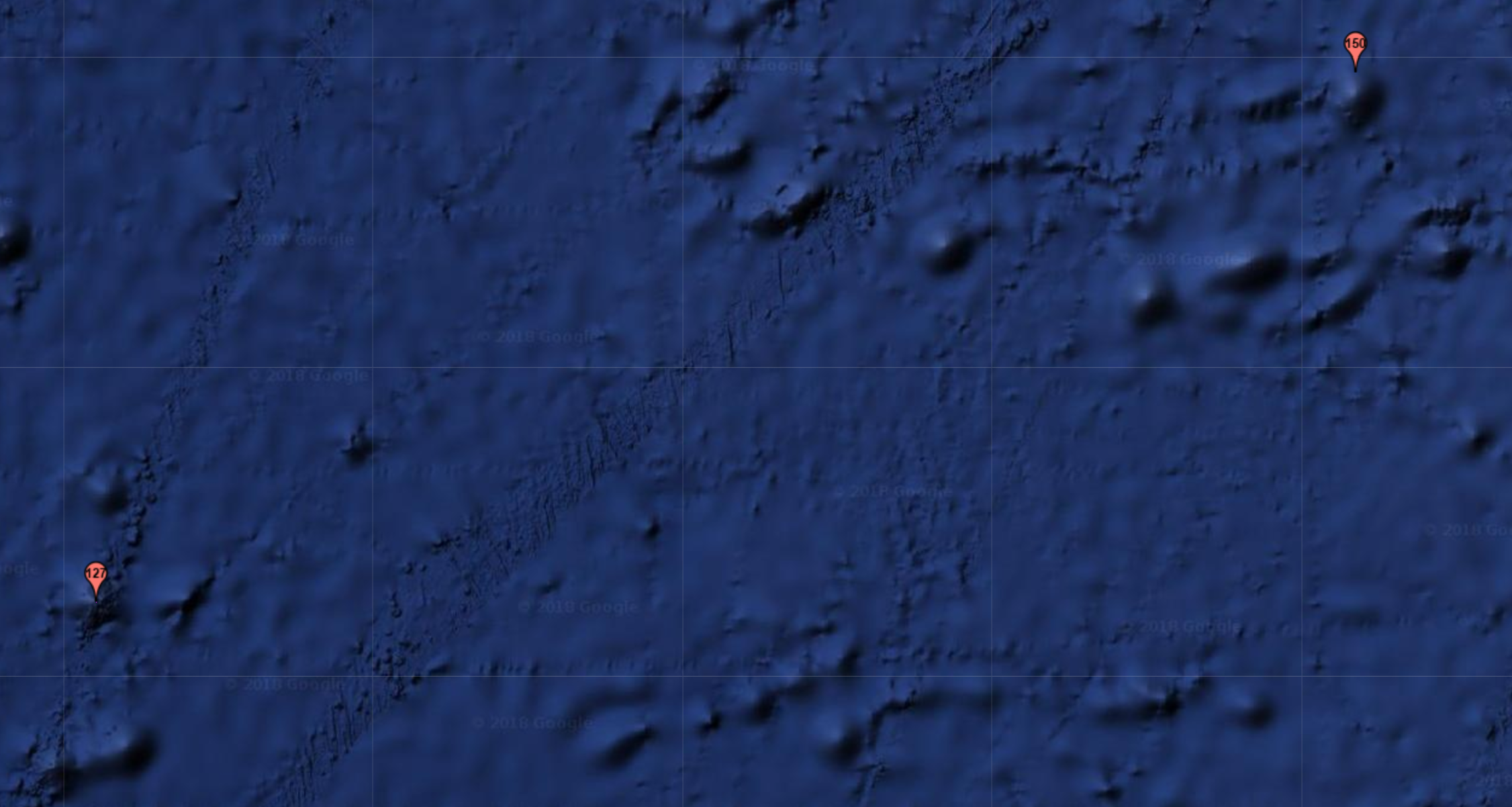 Image 2. Our next target: a chain of seamounts.
