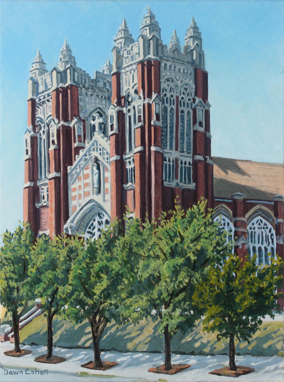 Saint Elizabeth School, 2017. Oil on canvas; 18 x 24 in.