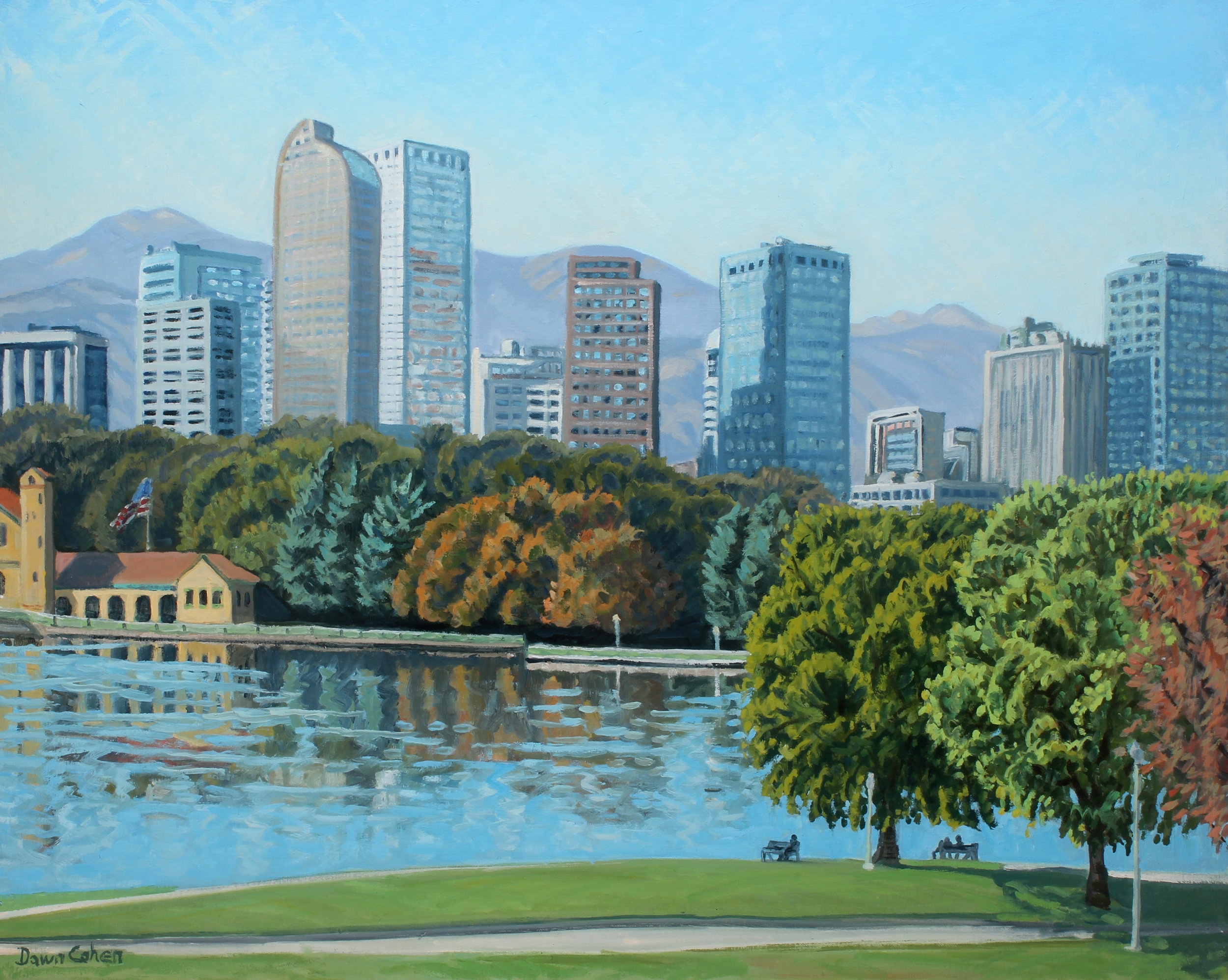 City Park Lake View, 2017. Oil on canvas; 30 x 24 in.