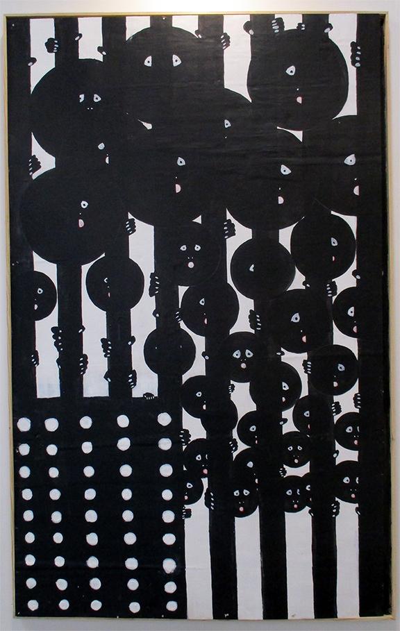 Old Glory: Black and White - Acrylic on panel