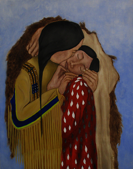 The Embrace - Oil on 39.75 x 31.5 inch panel