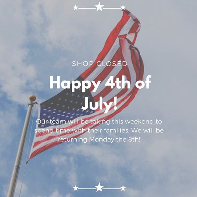 """""""We are the land of the free, because of the brave. Let's pay tribute to all of our brave American heroes on this day and forever."""" . . We hope you all are enjoying this time with your families, and we will be back to work Monday the 8th! Happy Independence Day!!! 🇺🇸🇺🇸🇺🇸"""