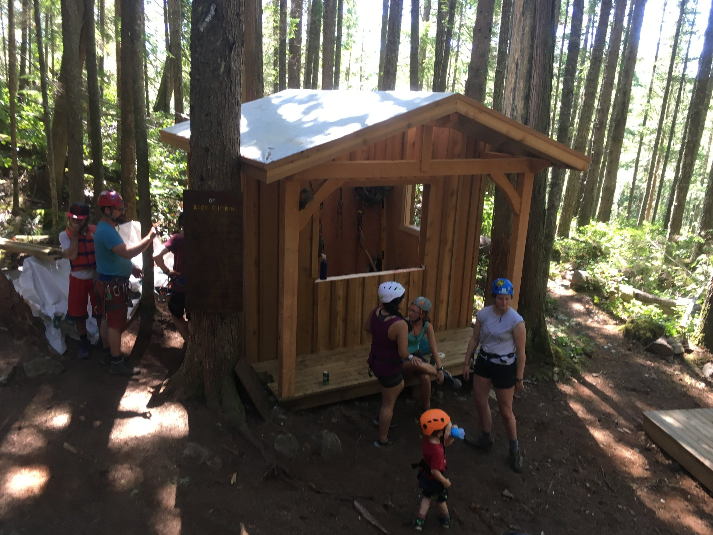 Our Completed Rock Climbing Shed 2018!