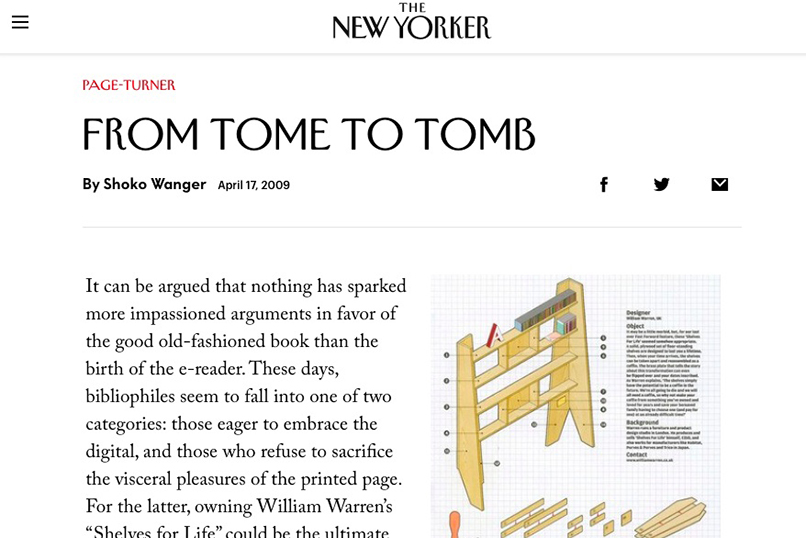 The New Yorker  book blog contributions
