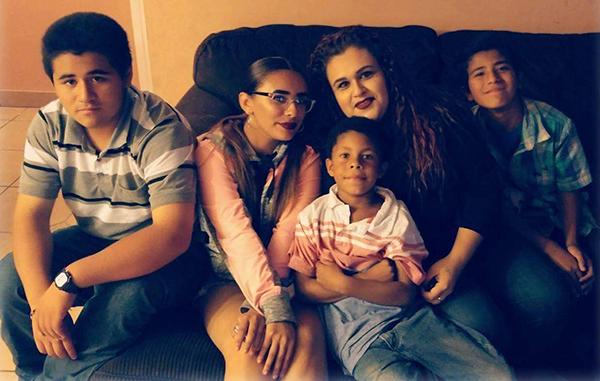 Mariza Ruelas and her family