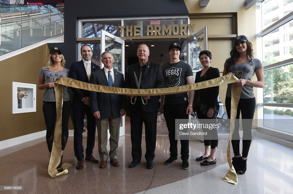 Grand opening & Ribbon cutting of the NHL's Vegas Golden Nights team store alongside Head Coach Gerard Gallant