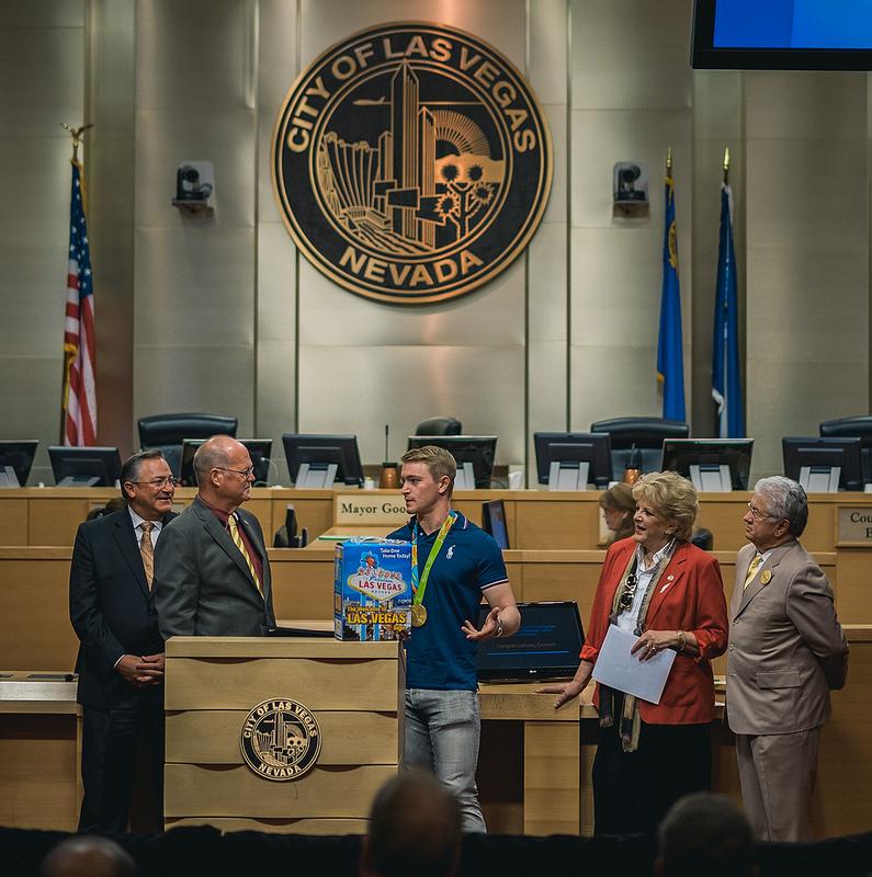 With Mayor Caroline Goodman of Las Vegas