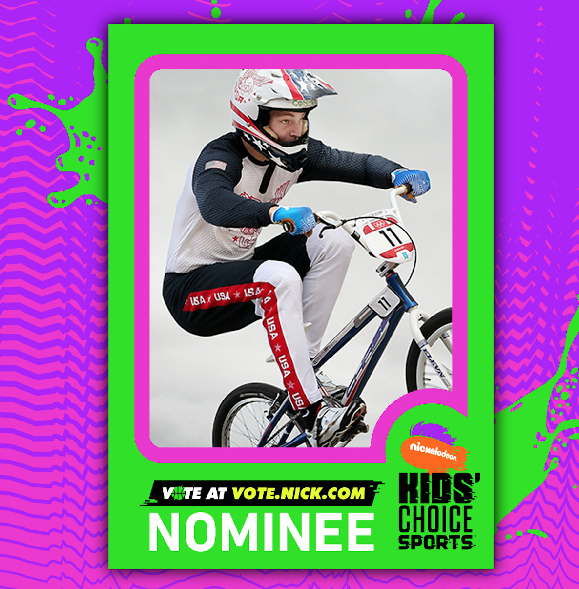Nominated for a Nickelodeon Kids Choice Award in 2017