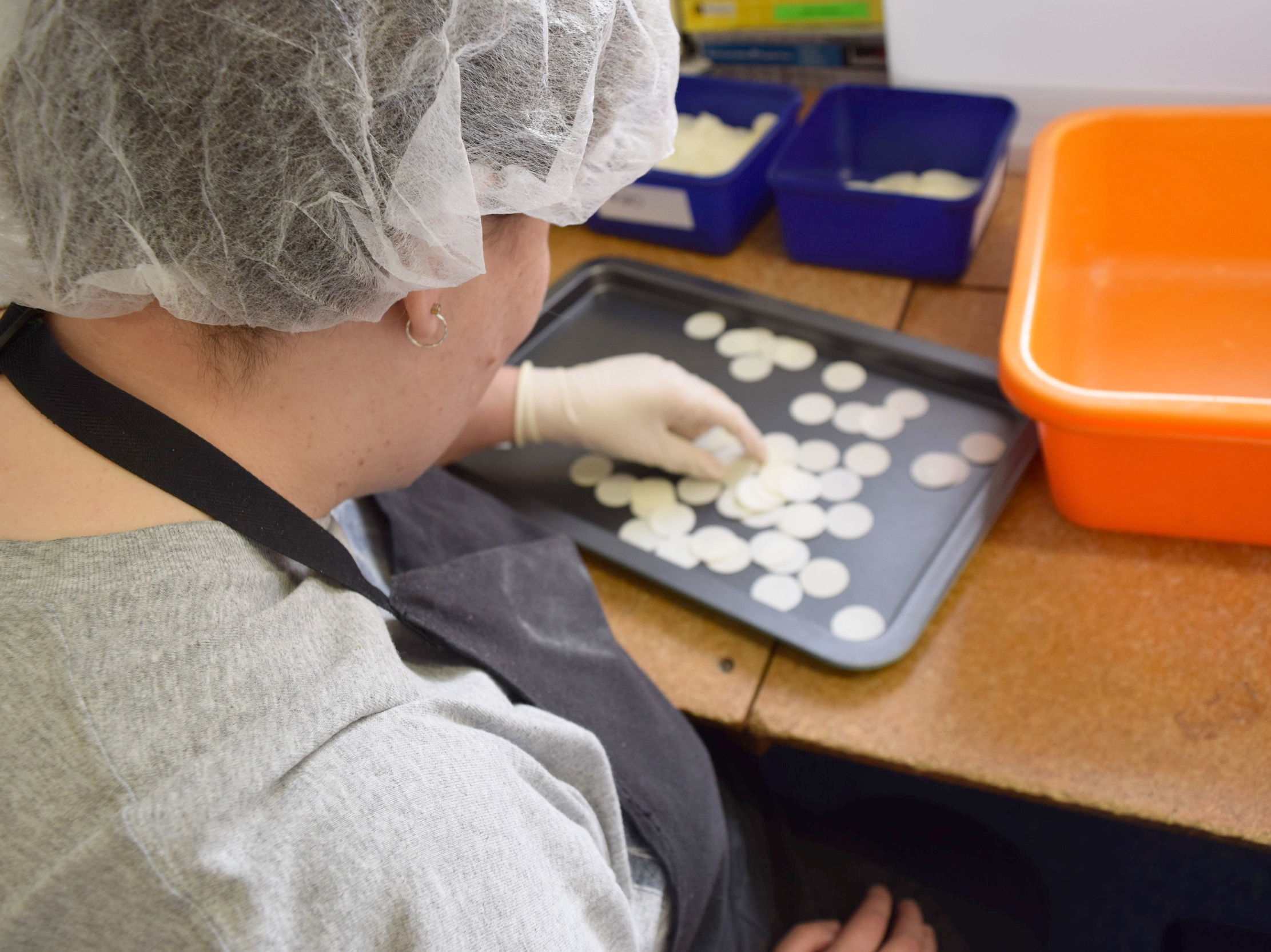 Manufactoring altar breads and providing employment to individuals with intellectual disabilities.