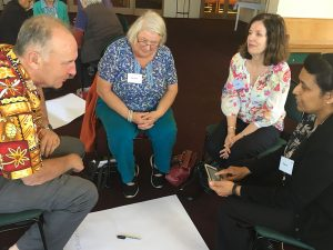 Discussion at the EJP Commission social analysis workshop, St Joseph's, Upper Hutt.