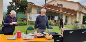 Parishioners lend a hand with hospitality at St Joseph's.