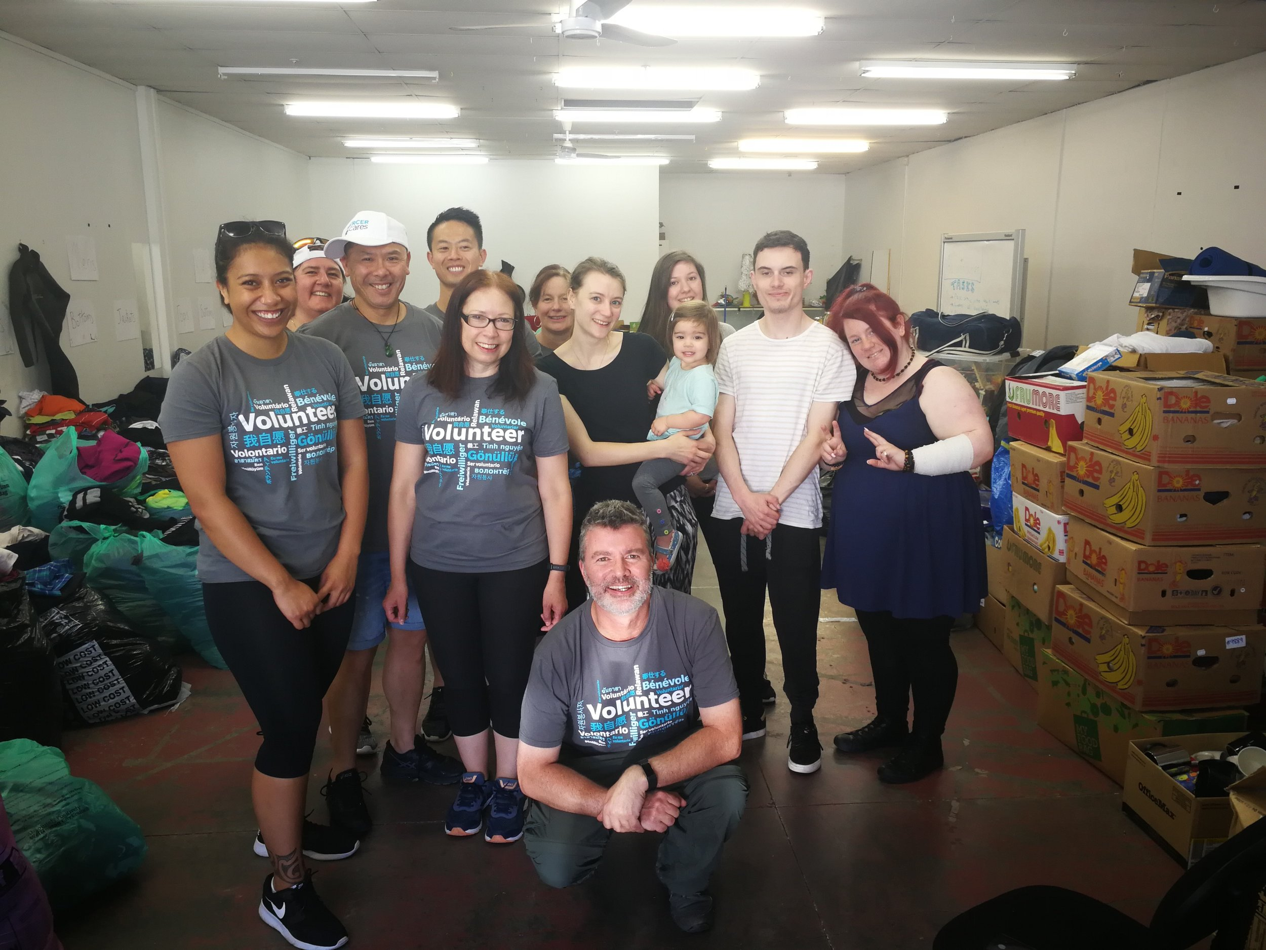 Mercer Ltd and Treehouse Volunteers at the Pop-Up Shop prep day.