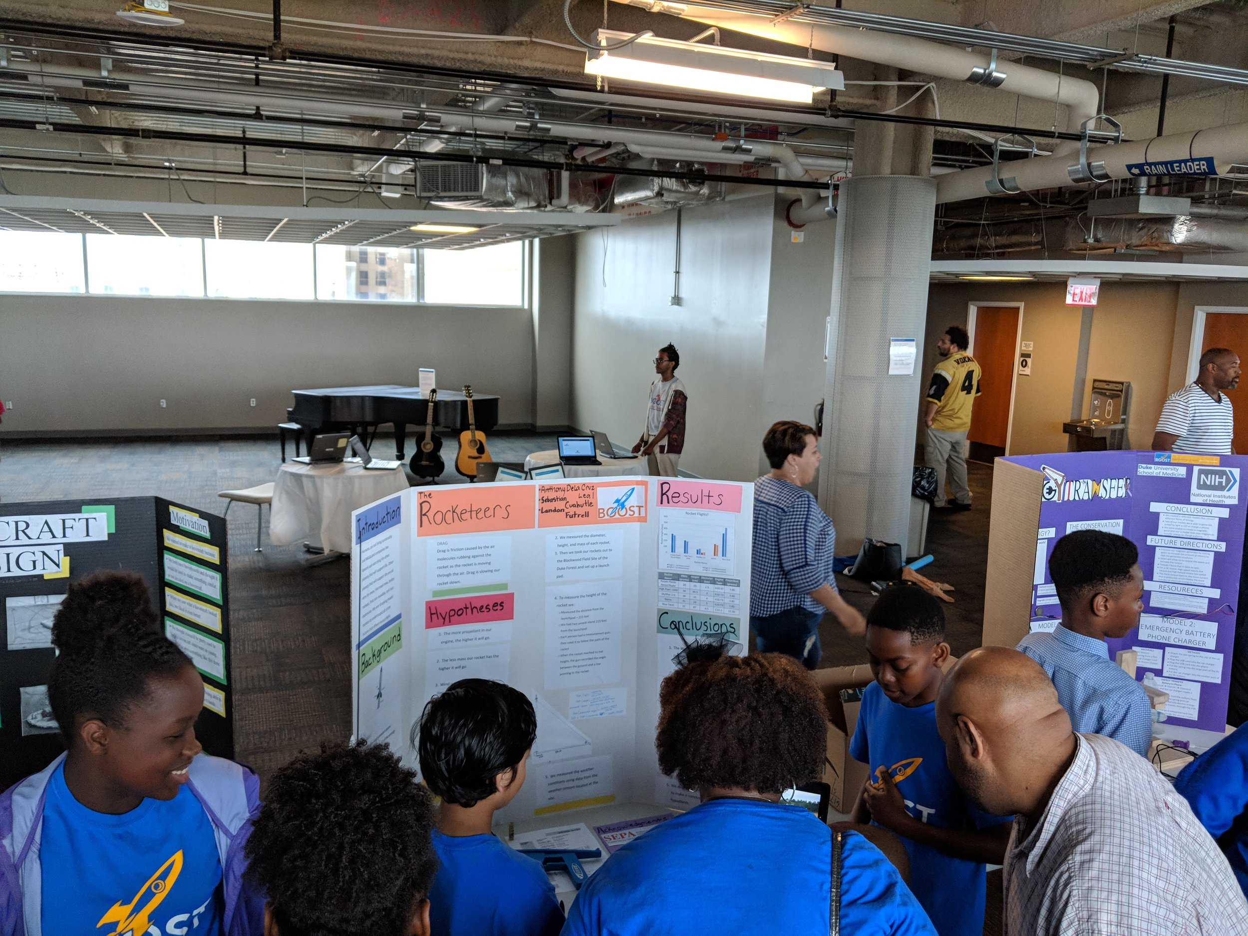 BOOST scholars presenting their year-long projects @ BOOST Science Symposium