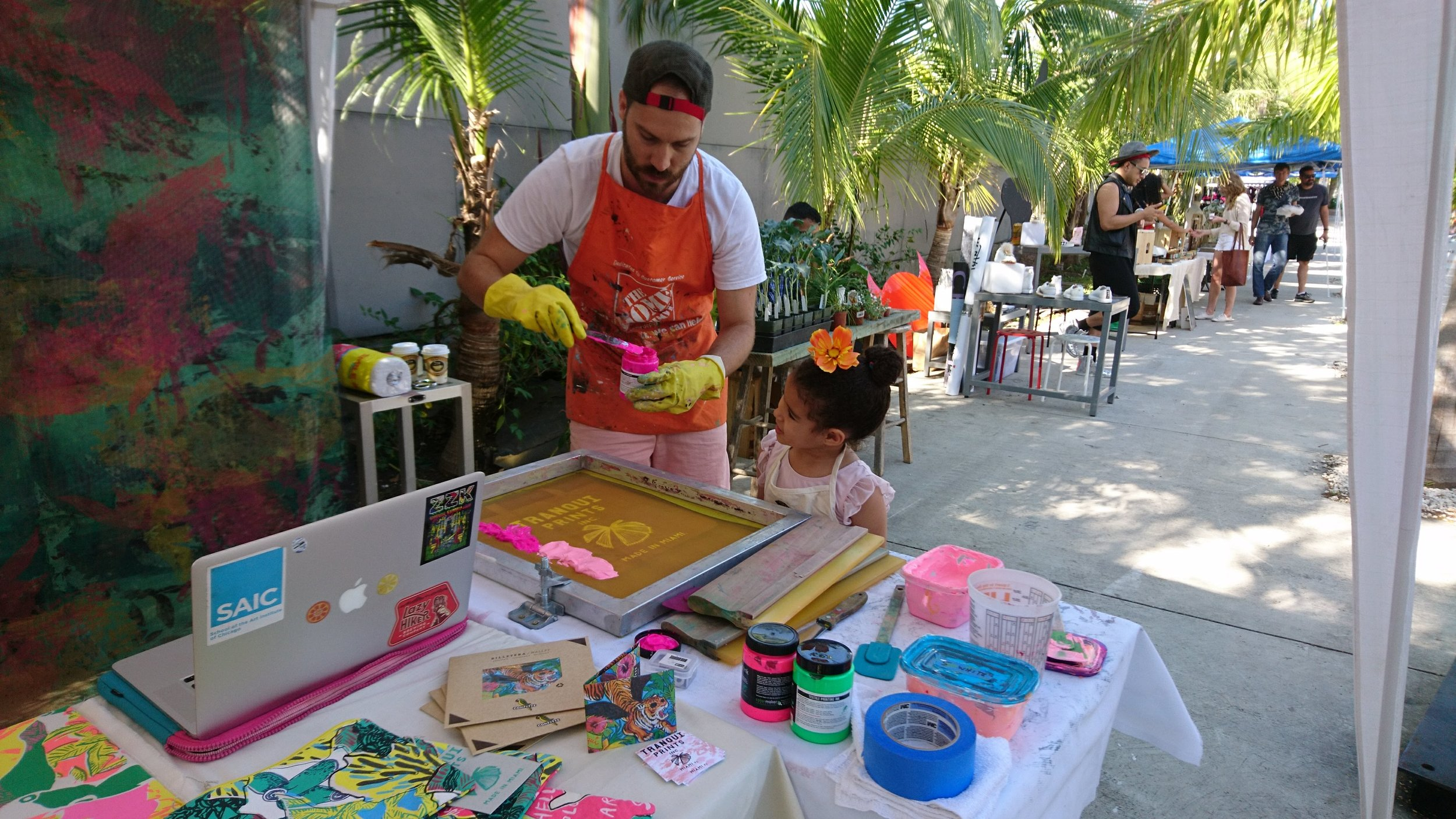 Screen Printing demos