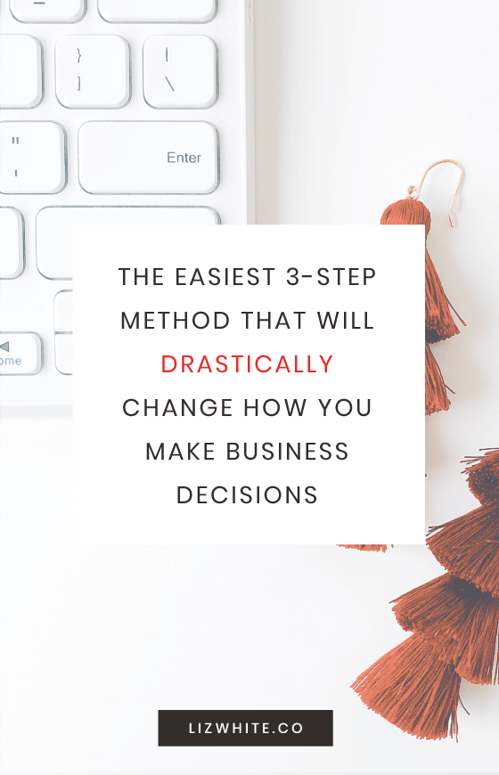 Pro tip for all small business owners and entrepreneurs: Make the best business decisions with this no-nonsense method. It makes sure that you're being smart about every new purchase and decision you make. Where was the 33 method when I was just starting my business? This helps me know exactly what business investments are worth it, and keeps me on track for being super productive.
