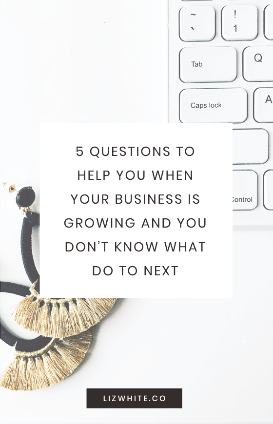 Is your business growing? Are you having trouble thinking about what you need to do next? Follow these 5 questions when you need a bit of guidance.