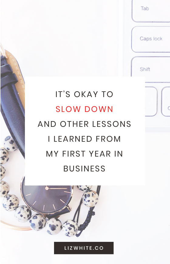 Business owner advice - what I learned my first year in business.