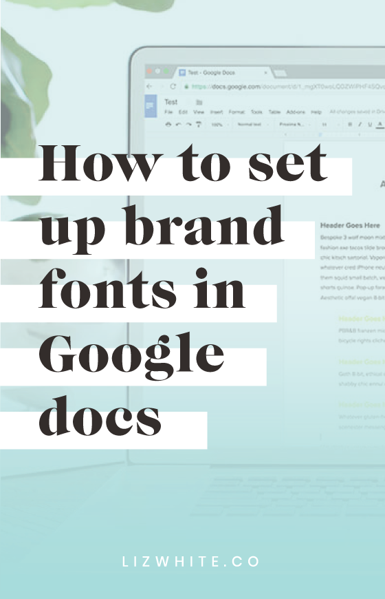Did you know that you can customize your google docs with your brand fonts? It's super easy to make your own fonts the default selection in Google, saving you time every time to create a new Google doc.