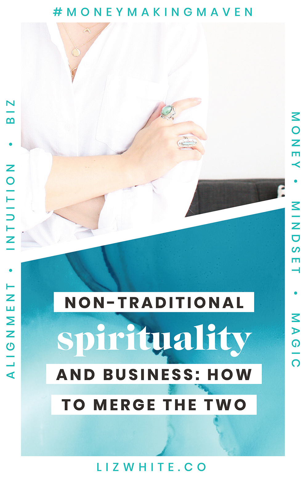 Bringing Spirituality Into Your Business | Liz White | #spirituality #moneymakingmaven #creativepreneur #intuitivebusiness | Let's chat about how bringing spirituality into our business is taboo rather than mainstream. Earlier, I shared how I gained confidence on adding my spirituality into my business but today I want to talk about how you can as well.