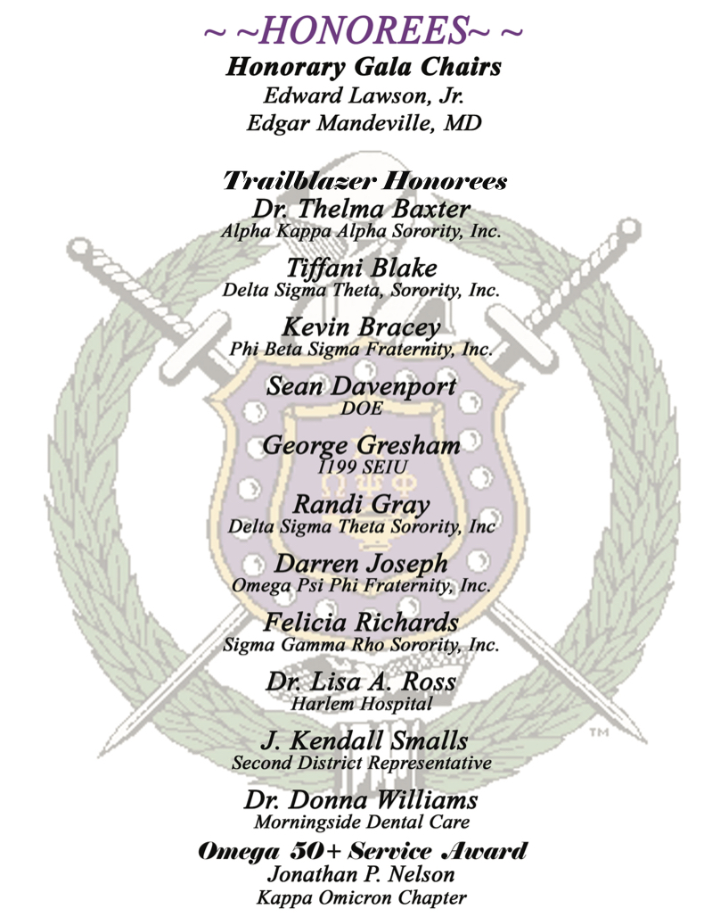 Trailblazer Honorees - 14th Annual Dinner Dance and 8th Chapter Anniversary