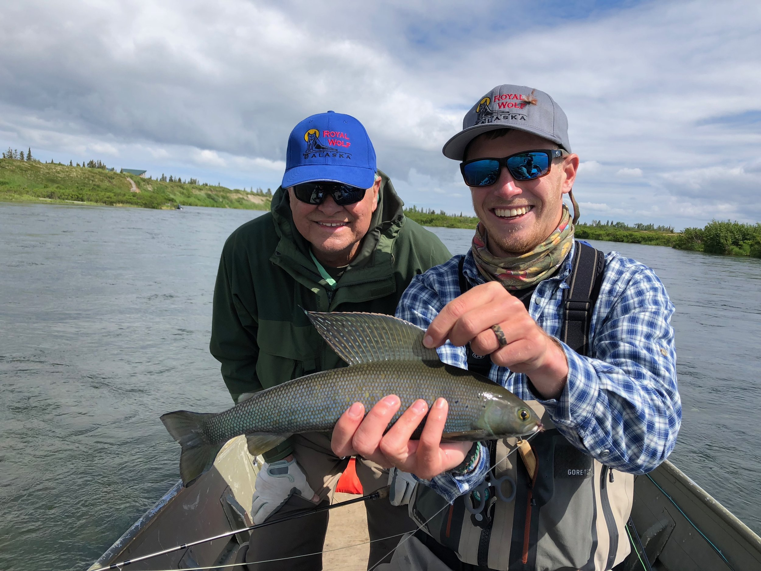 Chuck D. & Guide Chip with a Grayling