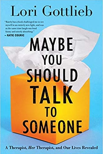 Maybe You Should Talk to Someone (Self-Improvement 4/5) - One day, Lori Gottlieb is a therapist who helps patients in her Los Angeles practice. The next, a crisis causes her world to come crashing down. Enter Wendell, the quirky but seasoned therapist in whose office she suddenly lands. With his balding head, cardigan, and khakis, he seems to have come straight from Therapist Central Casting. Yet he will turn out to be anything but.As Gottlieb explores the inner chambers of her patients' lives -- a self-absorbed Hollywood producer, a young newlywed diagnosed with a terminal illness, a senior citizen threatening to end her life on her birthday if nothing gets better, and a twenty-something who can't stop hooking up with the wrong guys -- she finds that the questions they are struggling with are the very ones she is now bringing to Wendell.With startling wisdom and humor, Gottlieb invites us into her world as both clinician and patient, examining the truths and fictions we tell ourselves and others as we teeter on the tightrope between love and desire, meaning and mortality, guilt and redemption, terror and courage, hope and change.We read this in May for Virtual Book Club and, while I thought it was about 100 pages too long, I thought it was a really great book to open the doors up to discussing mental health. I think this book would be perfect if you're thinking about talking to a therapist, but aren't sure it's for you. Gottlieb talks about therapy in a way that everyone can relate!
