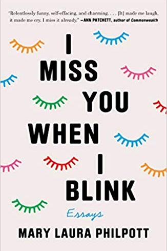 """I miss you when I blink (Memoir 3/5) - Mary Laura Philpott thought she'd cracked the code: Always be right, and you'll always be happy. But once she'd completed her life's to-do list (job, spouse, house, babies—check!), she found that instead of feeling content and successful, she felt anxious. Lost. Stuck in a daily grind of overflowing calendars, grueling small talk, and sprawling traffic. She'd done everything """"right,"""" but she felt all wrong. What's the worse failure, she wondered: smiling and staying the course, or blowing it all up and running away? And are those the only options?In this memoir-in-essays full of spot-on observations about home, work, and creative life, Philpott takes on the conflicting pressures of modern adulthood with wit and heart.Meh. I'd likely pass on this one. I wasn't too excited about it. I related to a bit of it, but it seemed a bit old for me. I think anyone in a motherhood stage of life would really enjoy this book or audiobook. Bonus: the audiobook is read by the author!"""
