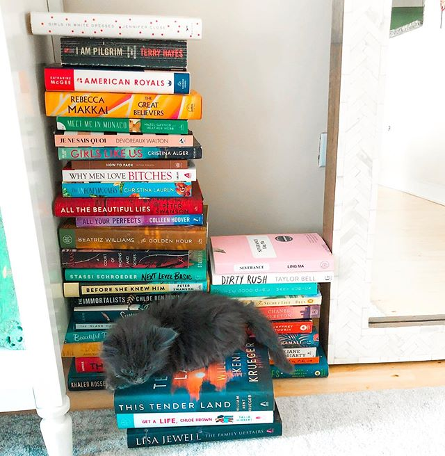 October book list is live and Cleo thinks my TBR is her own personal playground. #linkinbio # # Red at the Bone 4.5/5 She Said: Breaking the Sexual Harassment Story that Helped Ignite a Movement 4/5 Nothing to See Here 4/5 Park Avenue Summer 4/5 The Dutch House 4/5 In Five Years 3/5 The Silent Patient 3/5