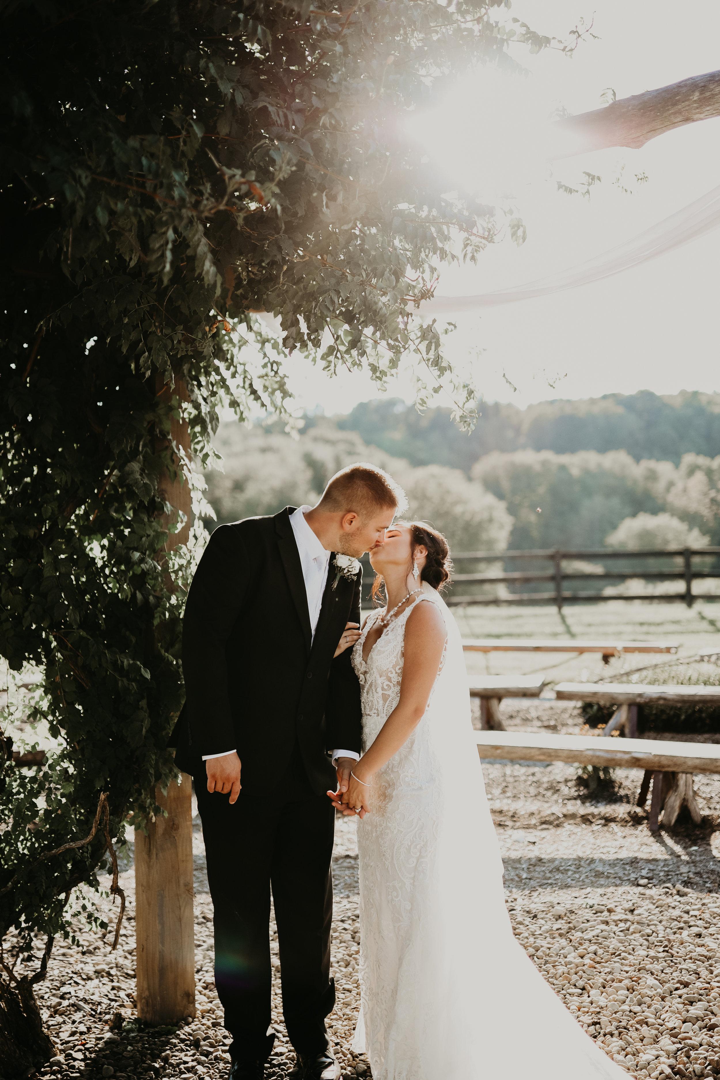 Gabrielle + Charley Barn Wedding