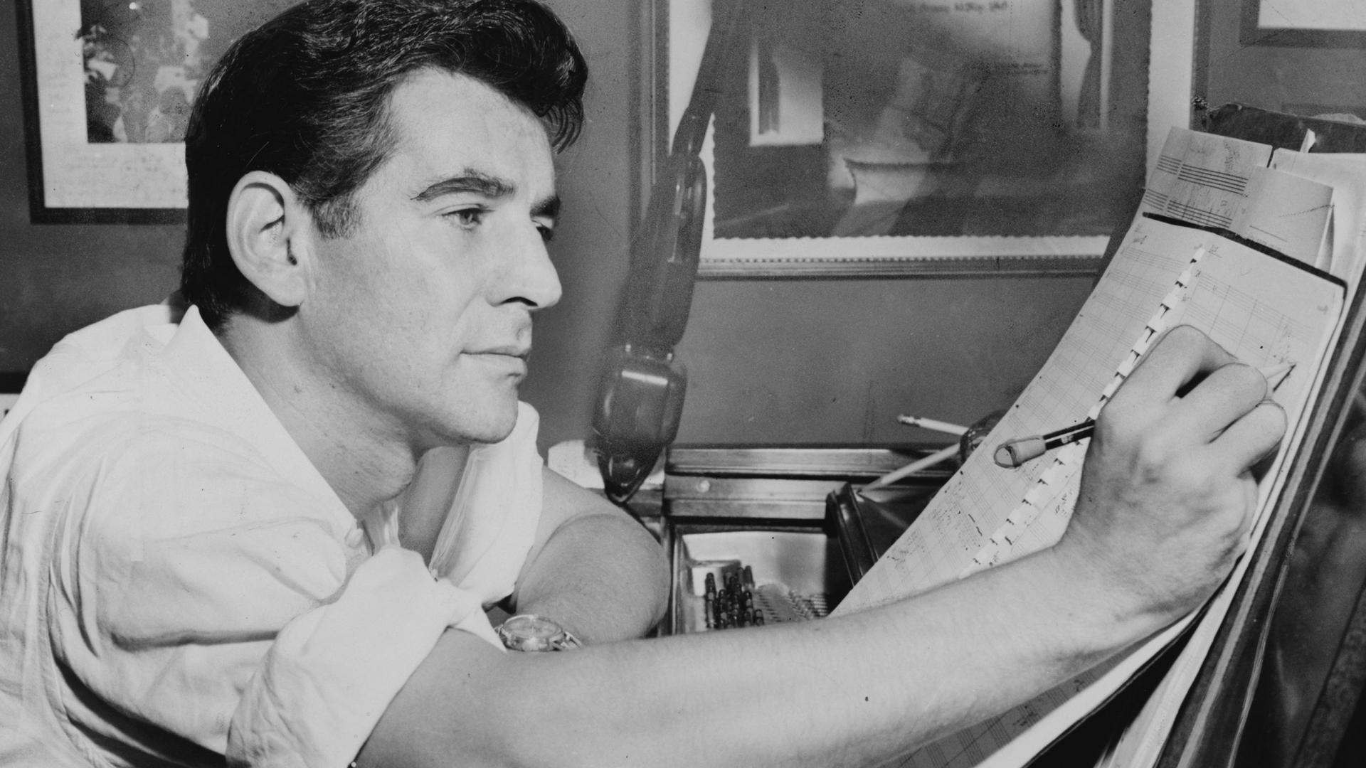 Leonard Bernstein \ Credit:Al Ravenna, 1955, courtesy of the Library of Congress