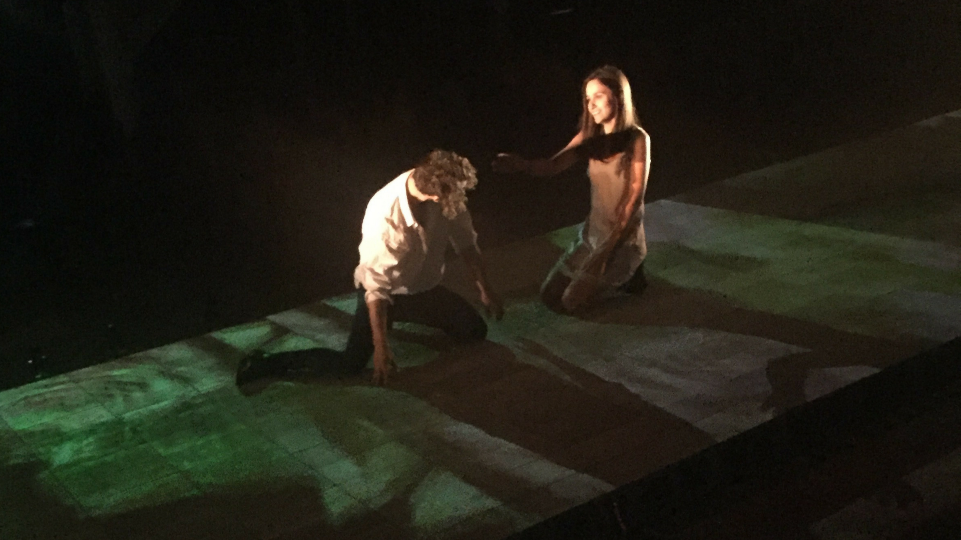A scene from the Australian premiere of  Backwards from Winter