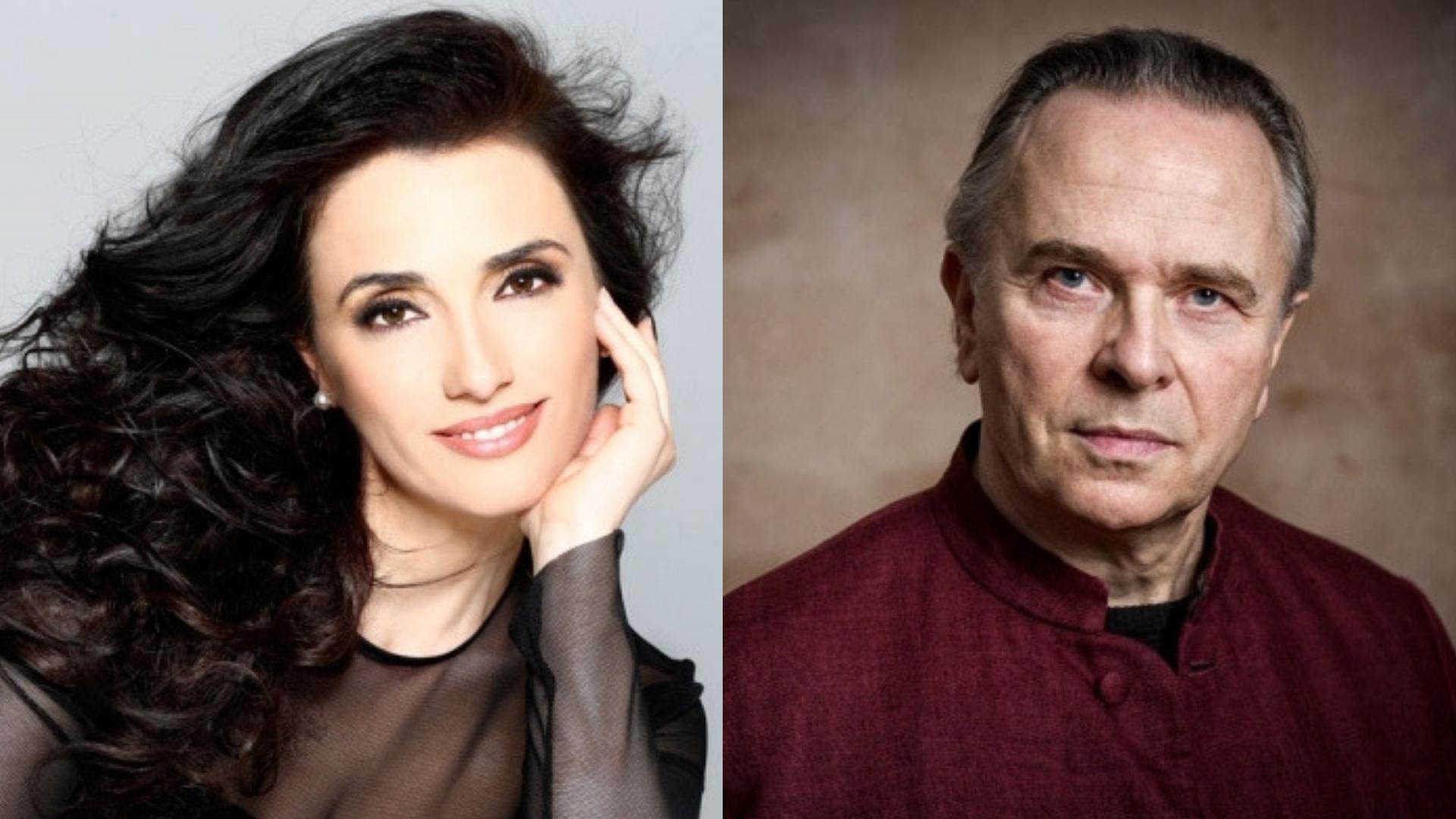 Albanian soprano Ermonela Jaho, Opera Rara's Artistic Director Sir Mark Elder