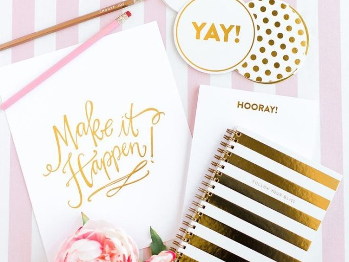 Make It Happen Gold Journal and Notepad