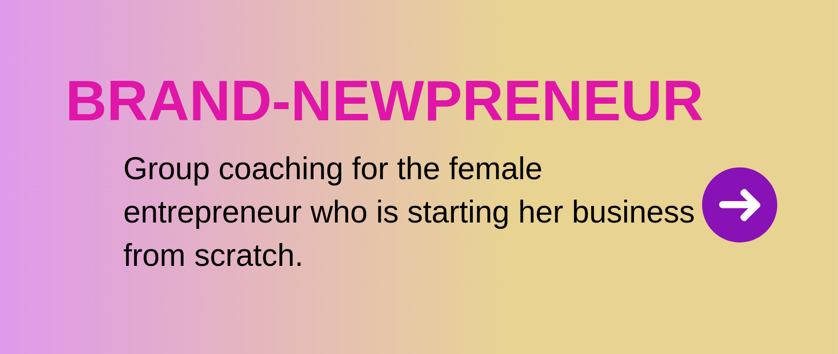Brand-Newpreneur group coaching for the female entrepreneur who is starting her business from scratch.