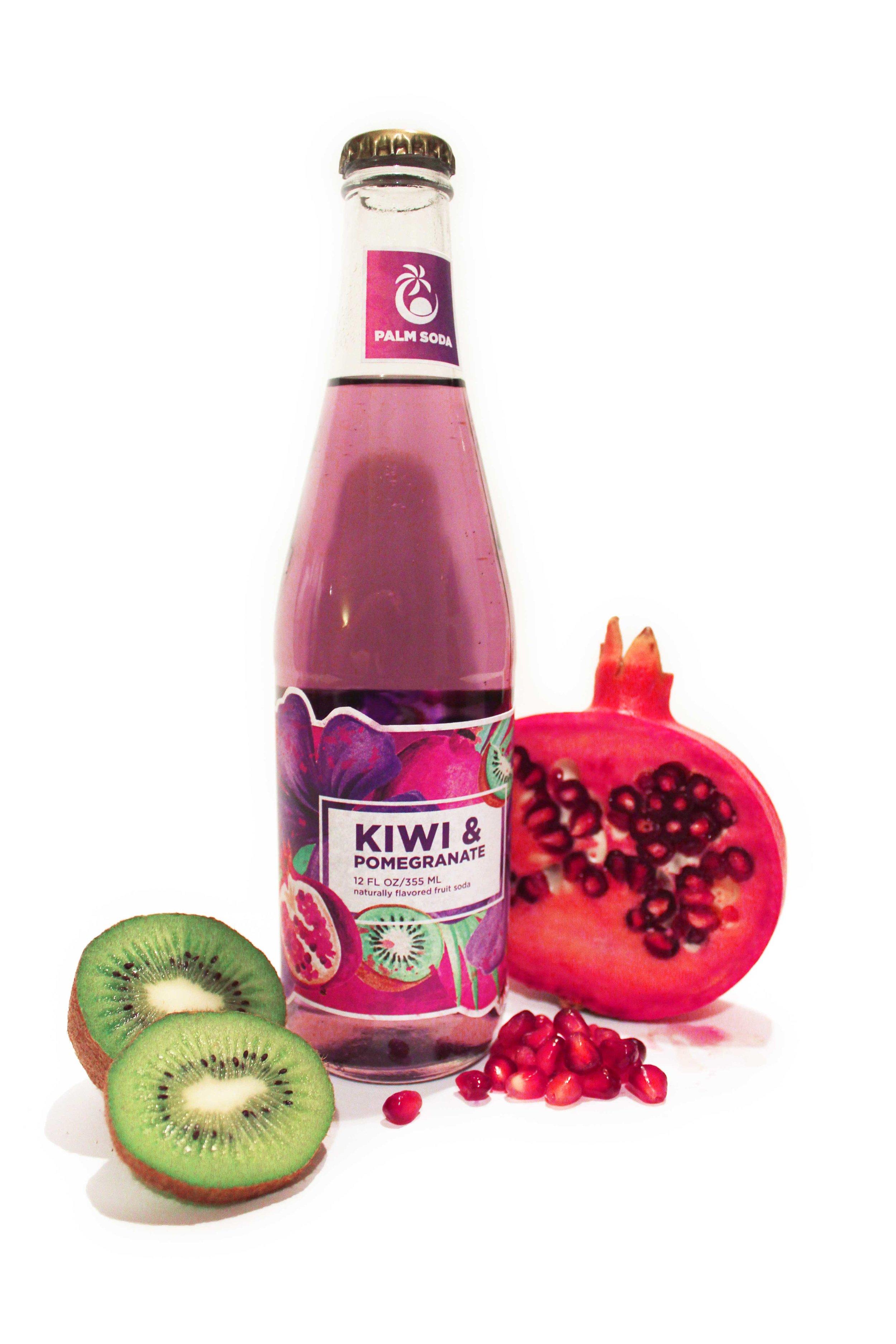 Kiwi Pomegranate Palm Soda