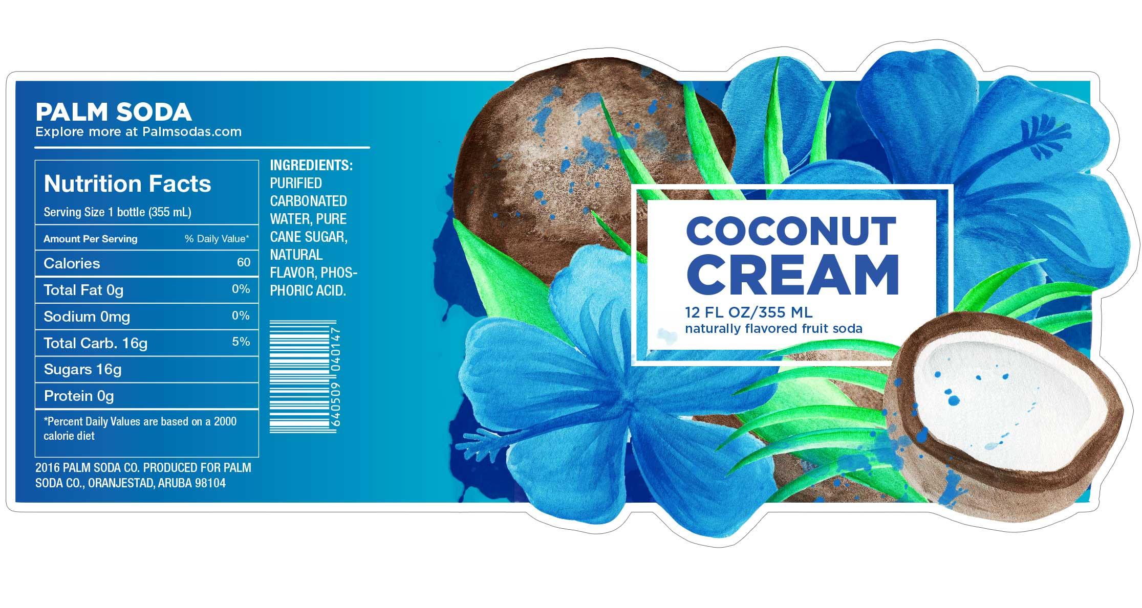 Coconut Cream Palm Soda Label