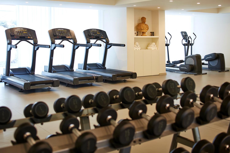 The resort's fitness center.