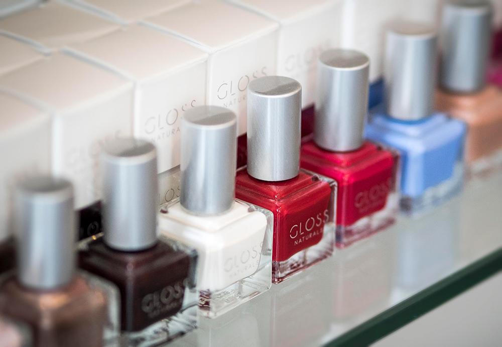 An assortment of Gloss Naturals Nail Polish colors. Image courtesy of Gloss Naturals