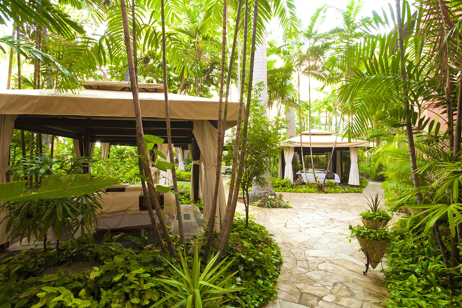 Abhasa Waikiki Spa is the only spa in Honolulu to offer treatments in a tropical garden setting.