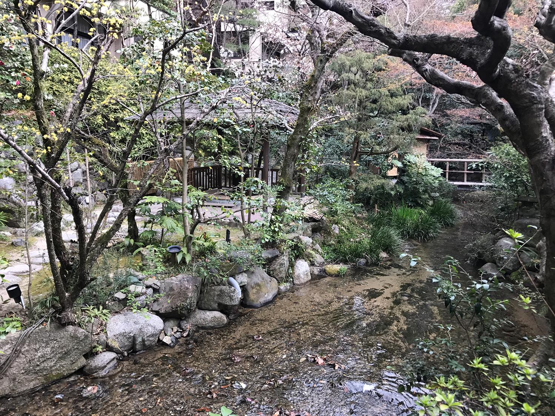 A traditional Japanese Garden in Matsuyama, Japan