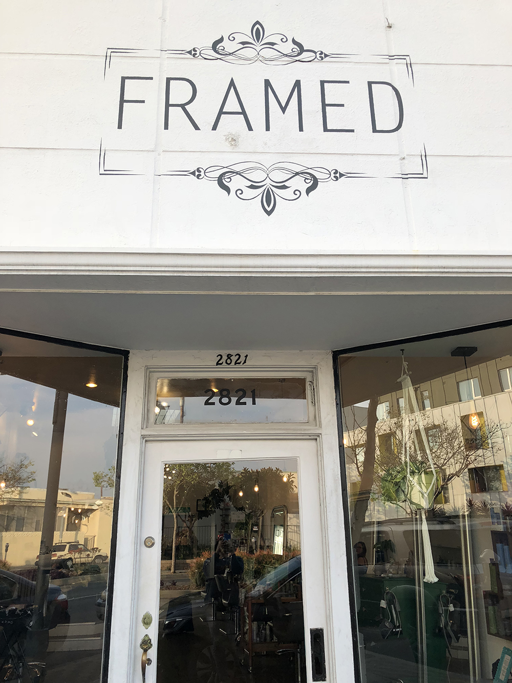 Framed salon is super cozy and cute!