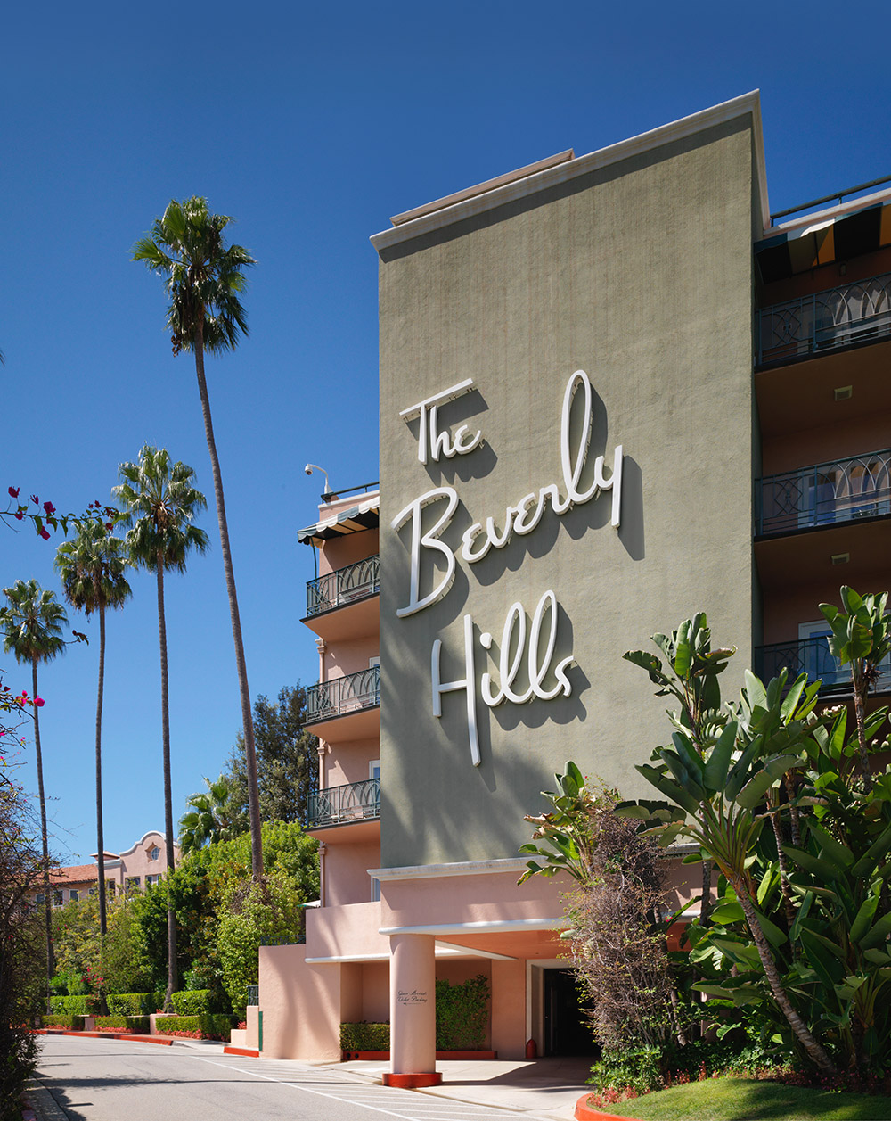 The Beverly Hills Hotel is an iconic landmark in Los Angeles.