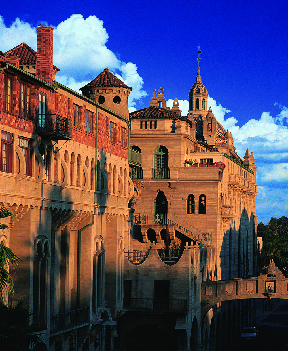 The historic Mission Inn Hotel & Spa in Riverside, CA, dates back to the late 1800s.