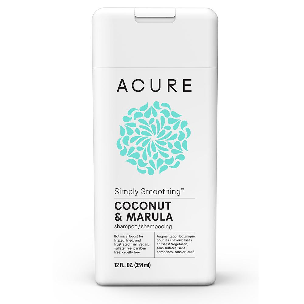 Acure Organics Coconut and Marula Simply Smoothing Shampoo, Image courtesy of Acure Organics
