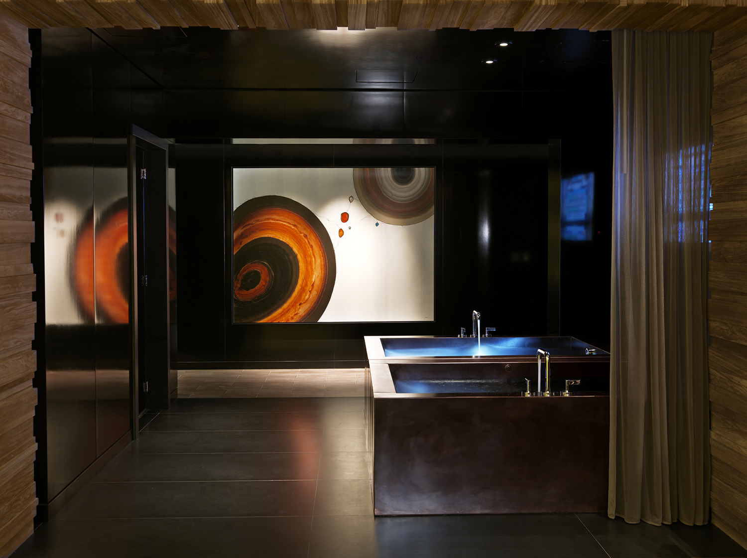 The spa's luxurious amenities include experiential monsoon rain showers, steam room, sauna and cool mist room prior to and after services.