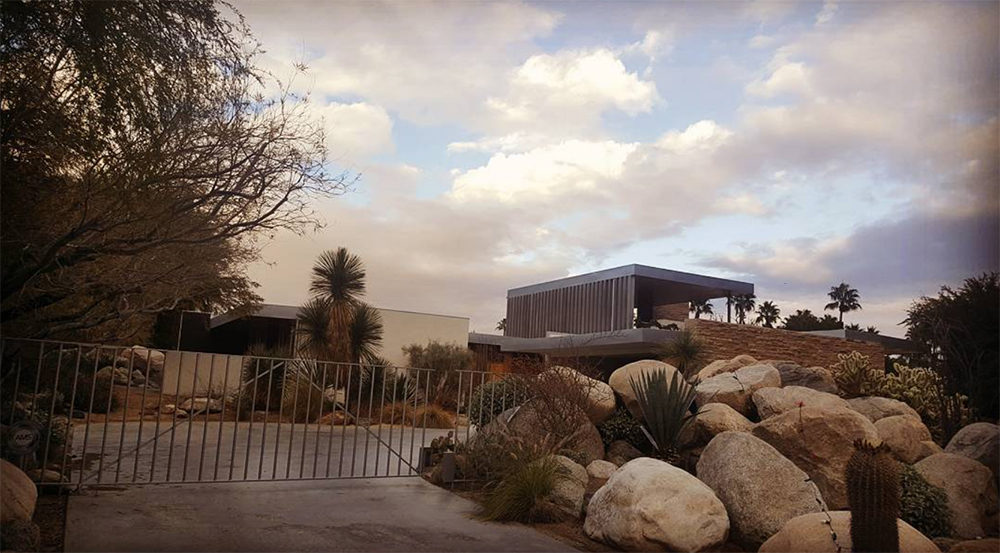 The Kaufmann House was designed by Richard Neutra in 1946. Stop by the Palm Springs Visitor's Center and pick up a Mid-Century Modern Landmark map.