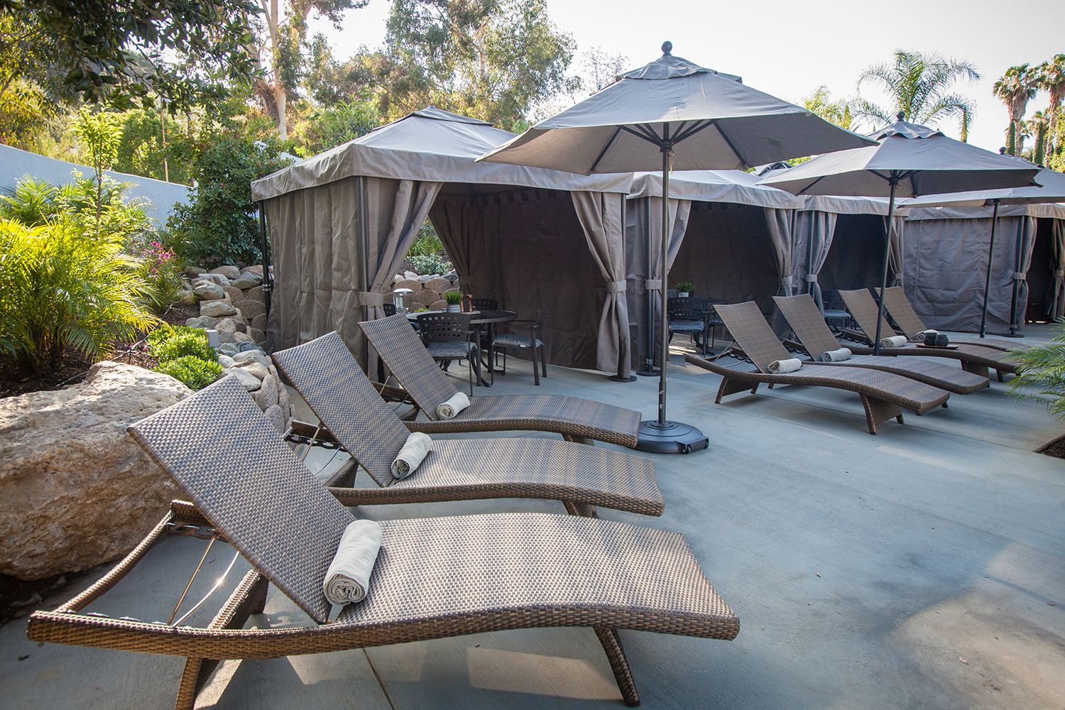 Guests of the Secret Garden can also reserve a private cabana.